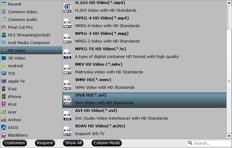 Output VirtualDub supported HD formats