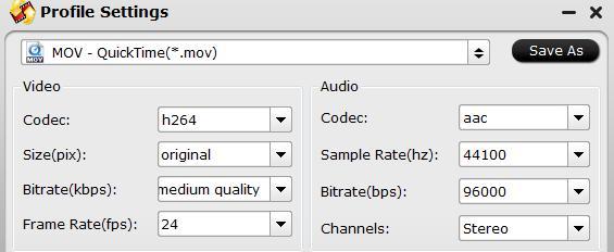Output original DJI Mavic Pro 4K video