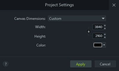 Project Settings